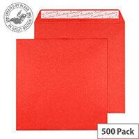Creative Colour Pillar Box Red Square Wallet Envelopes (Pack of 500)