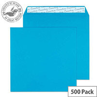 Creative Colour Caribbean Blue Square Wallet Envelopes (Pack of 500)