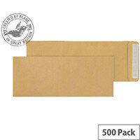 Purely Everyday Pocket Envelopes Peel and Seal Manilla 115gsm 381x152mm Pack of 500