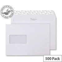 Blake Premium Business Wallet Window P&S Ice White Wove C5 120gsm (Pack of 500)