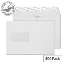 Blake Premium Business Wallet Window P&S High White Wove C5 120gsm (Pack of 500)