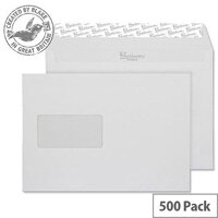 Blake Premium Business Wallet Window P&S Brilliant White C5 120gsm (Pack of 500)