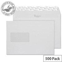 Blake Premium Business Wallet Window P&S Brilliant White C5 120gsm (Pack of 500)
