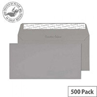 Creative Colour Storm Grey DL+ Wallet Envelopes (Pack of 500)