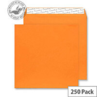 Creative Colour Pumpkin Orange Square Wallet Envelopes (Pack of 250)