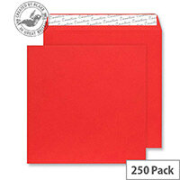 Creative Colour Pillar Box Red Square Wallet Envelopes (Pack of 250)