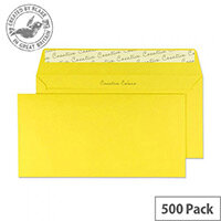 Creative Colour Banana Yellow Wallet DL+ Envelopes (Pack of 500)
