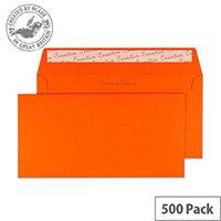 Creative Colour Pumpkin Orange DL+ Wallet Envelopes (Pack of 500)