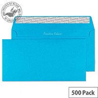 Creative Colour Caribbean Blue Wallet DL+ Envelopes (Pack of 500)