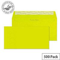 Creative Colour Acid Green DL+ Wallet Envelopes (Pack of 500)