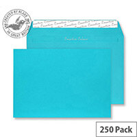 Creative Colour Cocktail Blue Wallet C4 Envelopes (Pack of 250)