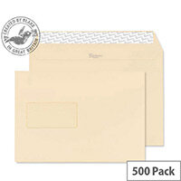 Blake Premium Business Cream Wove Window C5 Envelopes (Pack of 500)