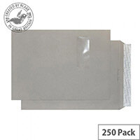 Creative Colour Storm Grey Window C4 Pocket Envelopes (Pack of 250)