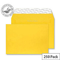 Creative Colour Egg Yellow Wallet C4 Envelopes(Pack of 250)