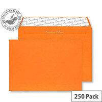 Creative Colour Pumpkin Orange Wallet C4 Envelopes (Pack of 250)
