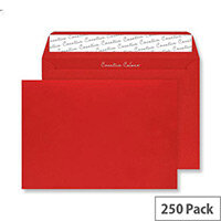 Blake Creative Colour  C4  120g/m2 Peel and Seal Wallet Envelope  Pillar Box Red  Pack of 250