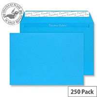 Creative Colour Caribbean Blue Wallet C4 Envelopes (Pack 250)