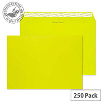 Creative Colour Acid Green Wallet C4 Envelopes (Pack of 250)