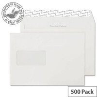 Creative Colour Wallet P&S Window Milk White 120gsm C5 162x229mm (Pack of 500)