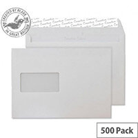 Creative Colour Soft Ivory Window C5 Wallet Envelopes (Pack of 500)