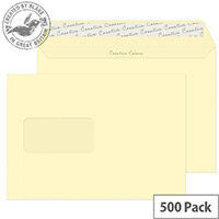 Creative Colour Vanilla Ice Cream Window Wallet C5 Envelopes (Pack of 500)