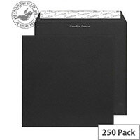 Creative Colour Jet Black Square Wallet Envelopes (Pack of 250)