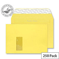 Creative Colour Banana Yellow Window C4 Envelopes (Pack of 250)