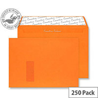 Creative Colour Pumpkin Orange Window C4 Wallet Envelopes (Pack 250)
