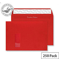 Creative Colour Pillar Box Red Window C4 Wallet Envelopes (Pack 250)