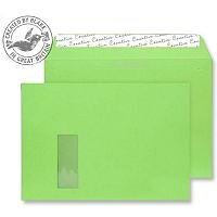 Creative Colour Lime Green Window C4 Wallet Envelopes (Pack of 250)