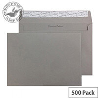 Creative Colour Storm Grey Peel and Seal C5 Wallet Envelopes (Pack of 500)