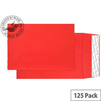 Creative Colour Pillar Box Red Gusset C4 Pocket Envelopes (Pack of 125)