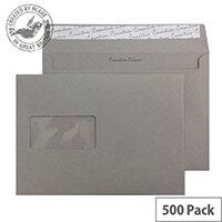 Creative Colour Window Storm Grey 120gsm Wallet C5 Envelopes(Pack of 500)