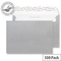 Creative Shine Metallic Silver C6 Wallet Envelopes (Pack of 500)