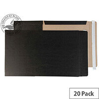 Blake Purely Packaging Black Book Mailing Wraps 475x350x50mm Pack of 20