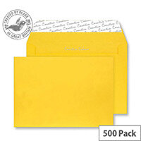 Creative Colour Egg Yellow C5 Wallet Envelopes (Pack 500)