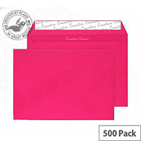 Creative Colour Shocking Pink Peel and Seal C5 Wallet Envelopes (Pack of 500)
