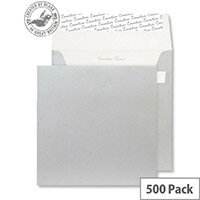 Creative Shine Metallic Silver Square Wallet Envelopes (Pack of 500)