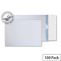 Blake Premium Secure White Gusset Peel and Seal 381x254x30mm 125gsm Envelopes Pack of 100