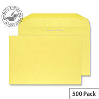 Creative Colour Banana Yellow Gummed Wallet C5+ Envelopes (Pack of 500)