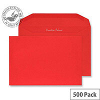 Creative Colour Pillar Box Red Gummed C5+ Wallet Envelopes (Pack of 500)
