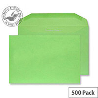 Creative Colour Lime Green Gummed C5+ Wallet Envelopes (Pack of 500)