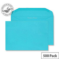 Creative Colour Cocktail Blue Gummed C5+ Wallet Envelopes (Pack of 500)