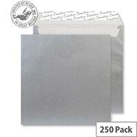 Creative Shine Metallic Silver Wallet Envelopes (Pack of 250)