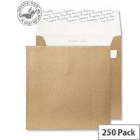 Creative Shine Metallic Gold Square Wallet Envelopes (Pack of 250)