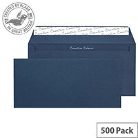 Creative Colour Oxford Blue DL+ Wallet Envelopes (Pack of 500)