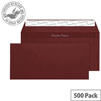 Creative Colour Bordeaux Wallet DL+ Envelopes (Pack of 500)