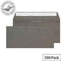 Creative Colour Graphite Grey DL+ Wallet Envelopes (Pack of 500)