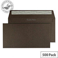 Creative Colour Brown Bitter Chocolate DL+ Wallet Envelopes (Pack of 500)