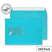 Creative Colour Cocktail Blue Window C5 Envelopes (Pack of 500)